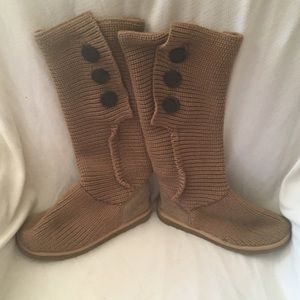 Knee high tan knit Ugg Boots